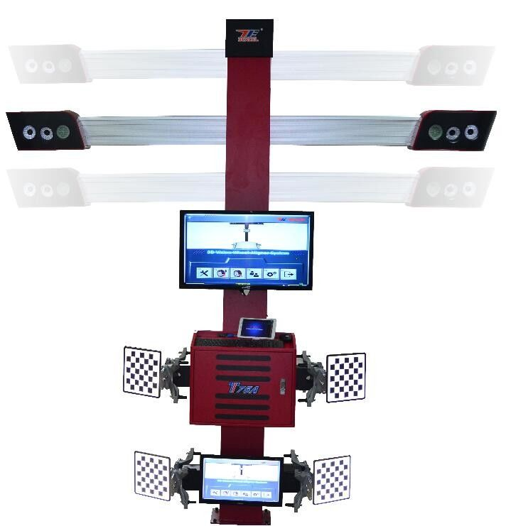 Garage Equipment Wheel Tire Alignment Machine Effectively Auto Tracking With Four Cameras