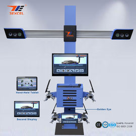 China Tablet Control Portable Wheel Alignment Machine , 4 Wheel Four Cameras 3d Wheel Aligner distributor