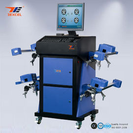 China Wide Angle Blue CCD Wheel Aligner Automatic Machine With Wireless Communication System distributor